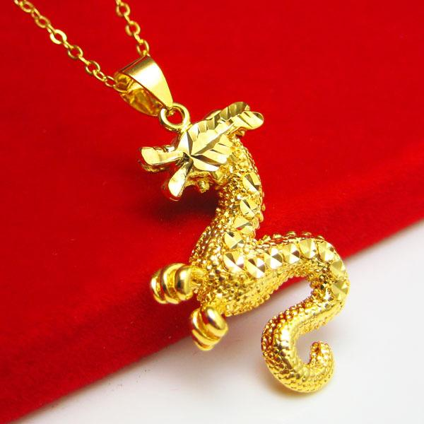 Wholesale fade eventually becoming gold dragon pendant for Does gold plated jewelry fade