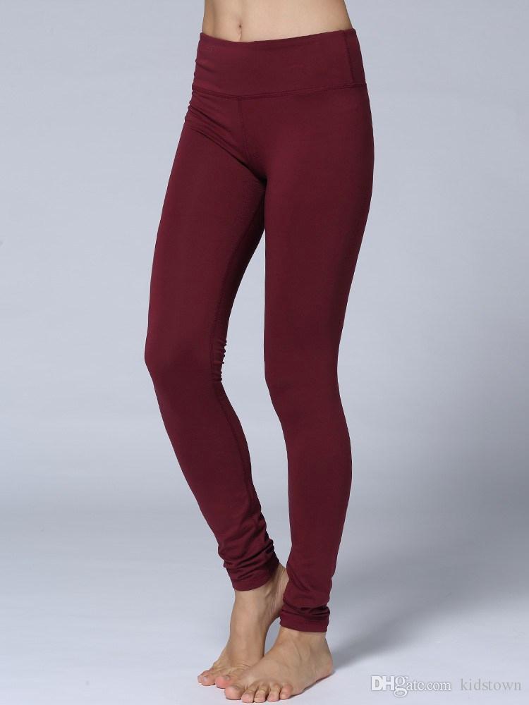 Womens Burgundy Leggings