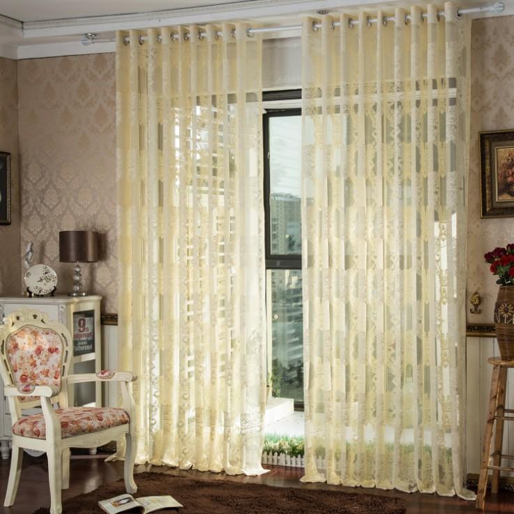 Custom made window curtains cream luxury living room sheer for Custom window curtains online