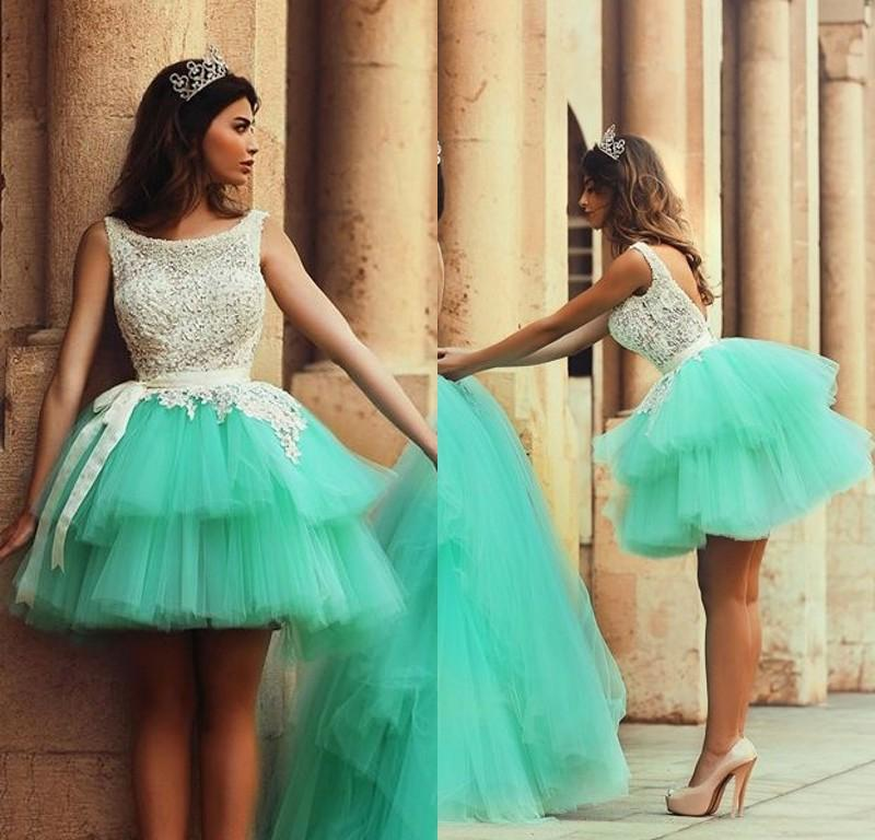 Mint Green 8th Grade Graduation Dresses Tulle Best Selling Lace ...