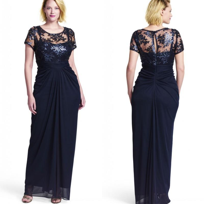 Plus Size Formal Dresses Navy Blue 77
