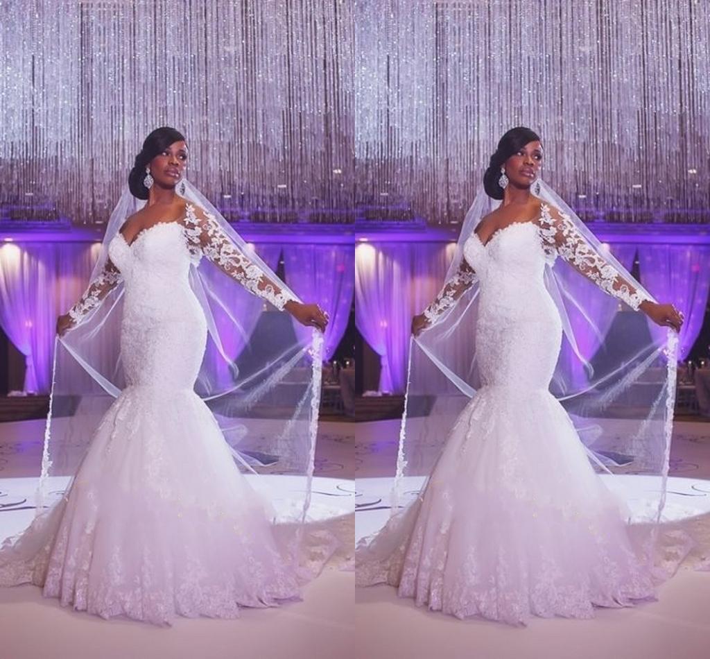 African Wedding Dresses 2015 y Mermaid f Shoulder