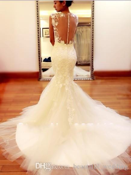 Best selling 2015 vintage wedding dresses sheer straps for Sell vintage wedding dress