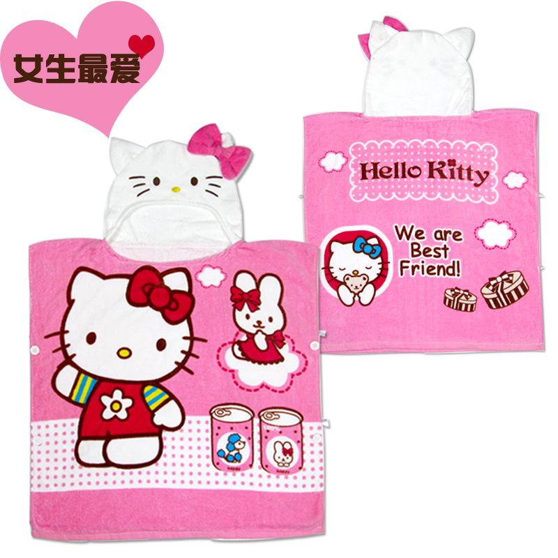 baby bath towels girl hello kitty beach towel bathrobes 100 cotton cute hello kitty children towels kids girl towel cloak cape bath towel cartoon bathrobe