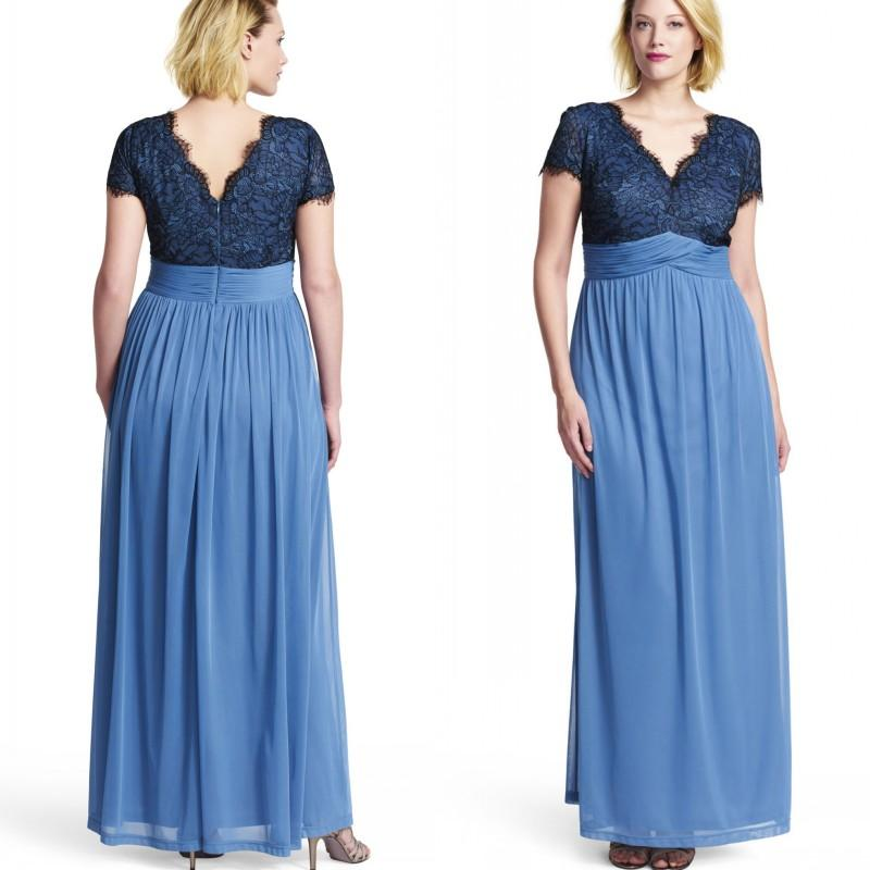 Navy Blue Chiffon V Neck Plus Size Special Occasion Dresses 2015 ...