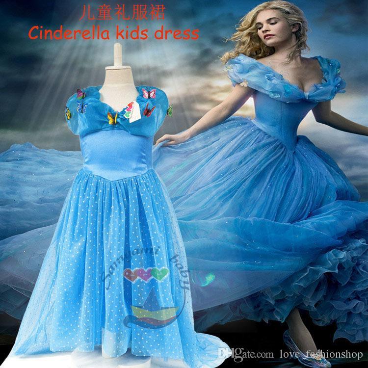 Online Cheap 2015 Cinderella Dresses Girls V Neck Ball Gowns ...