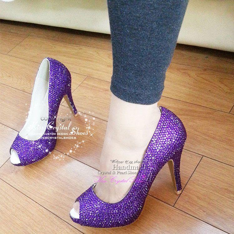 purple wedding shoes handmade purple bridal shoes medium heels
