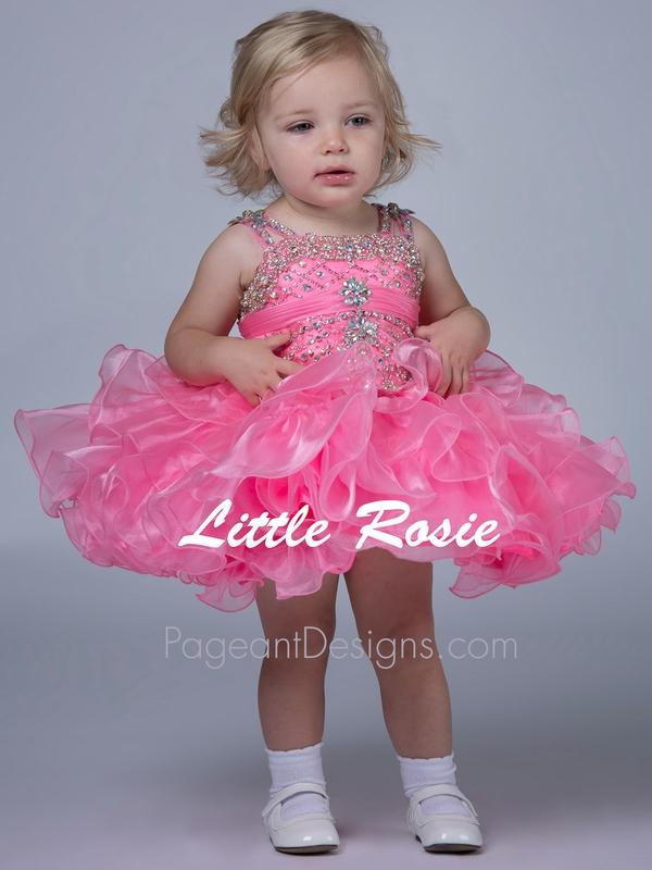 Pink Beautiful 2015 Infant Cupcake Toddler Pageant Dresses Kids Wedding Dress For Girls Prom