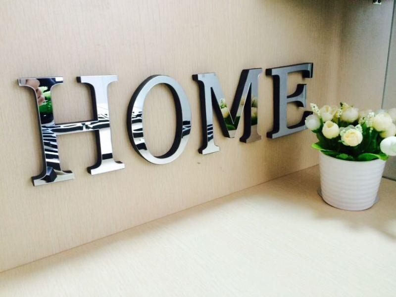 10cmx8cmx1 2cmthick Wedding Love Letters Home Decoration English 3d Mirror Wall Stickers Alphabet Home Decor Logo For Wall Home Sticker Home Wall Art