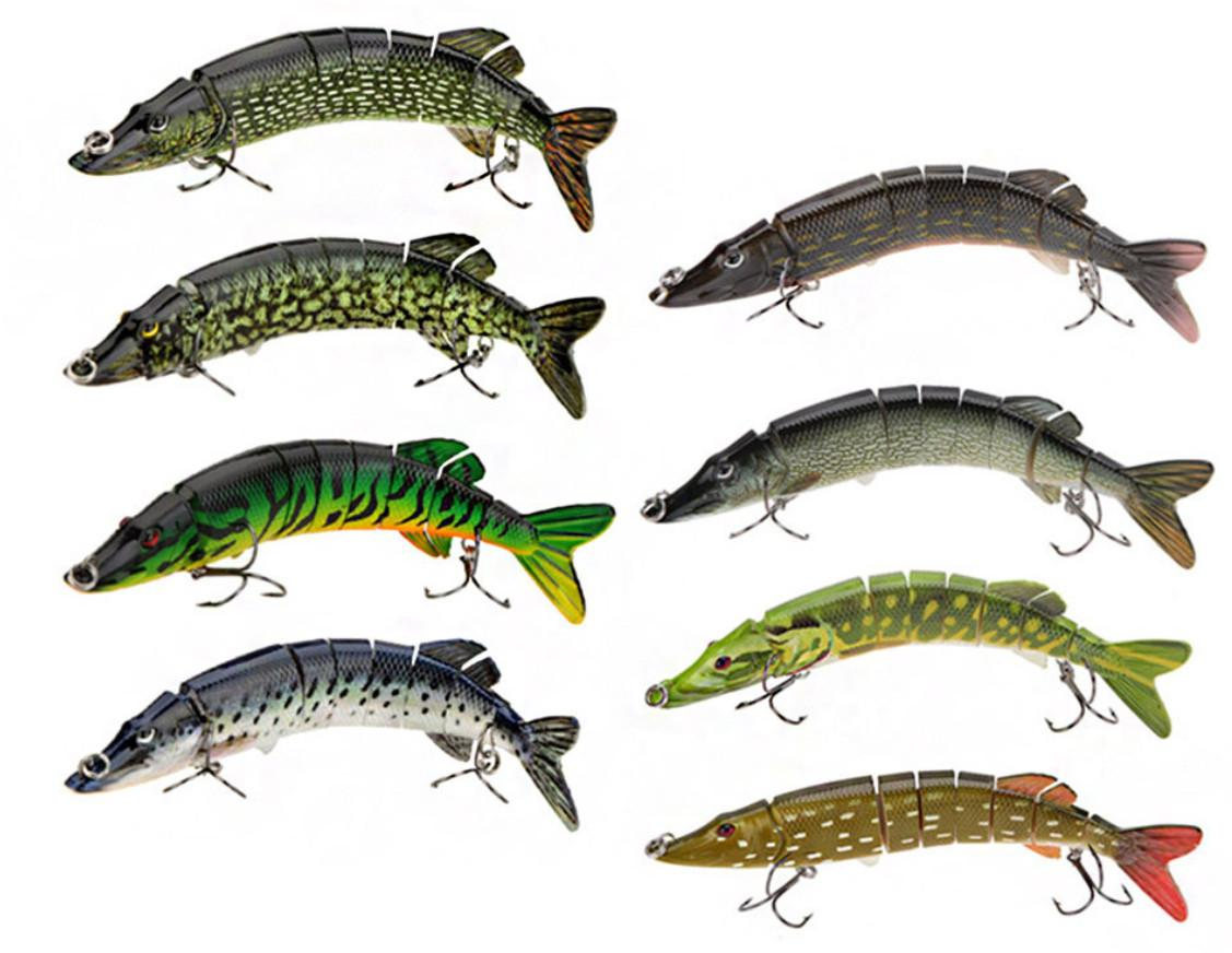 20cm 66g lifelike pike muskie fishing lure 8 segement swimbait, Hard Baits