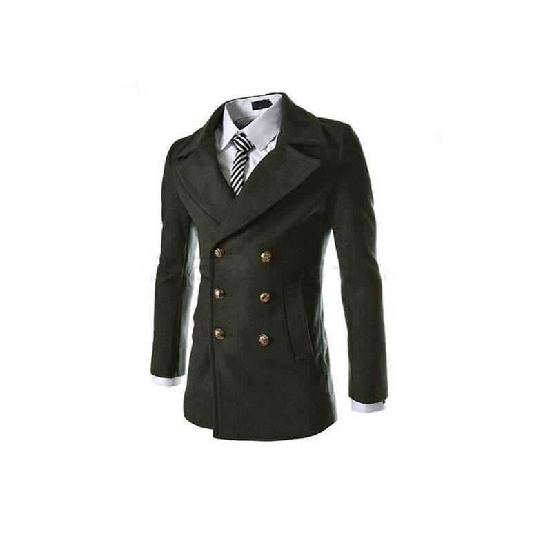 2017 Men&39S Long Trench Coats 2015 New Fashion Mens Pea Coat Zipper