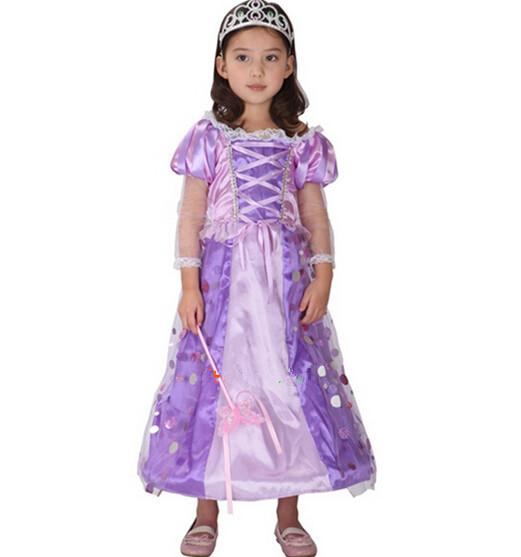 Purple Fairy Mermaid Costume For Children Princess Sea ...