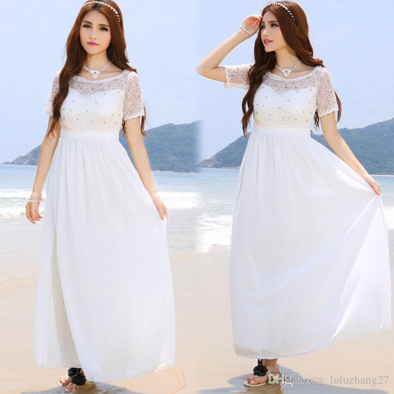 Discount Beach Wedding Dresses 2016 Plus Size Women Summer ...