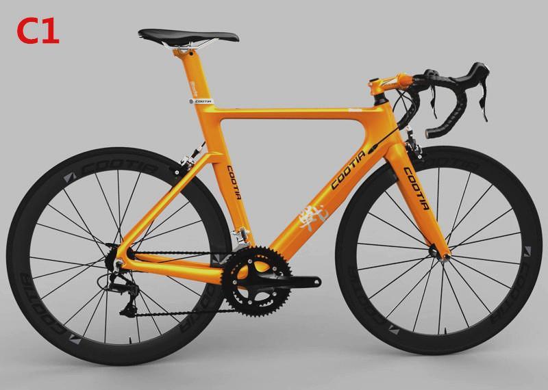 cheap carbon fibre carbon road frame cootia best 48cm51cm road bikes v2 frame