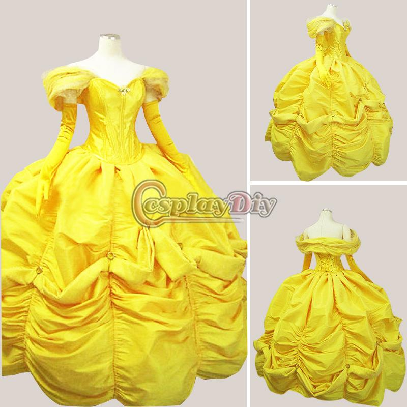 Costume with yellow dress