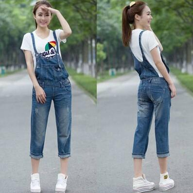 Fashion Capris Ladies Romper Pants For Women High Quality Denim ...