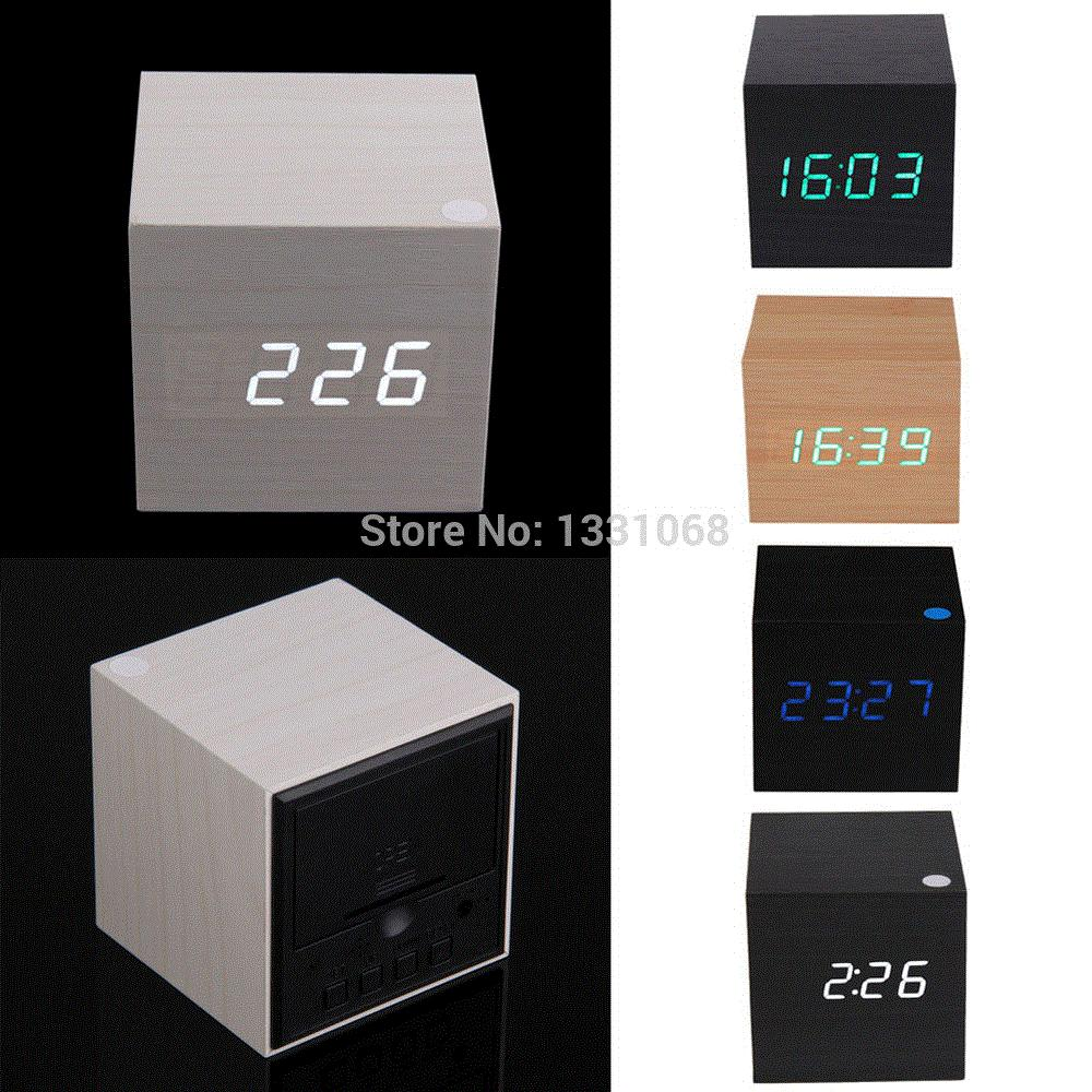 Clocks Alarm Clocks Modern Wooden