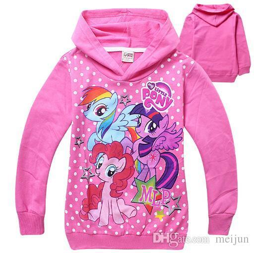 my little pony clothes Hoodies children kids cute pink purple hoodies