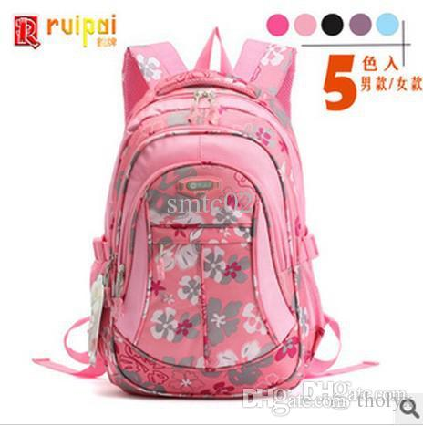 2015 Most Beautiful Girls School Backpack Fashion Flower Bags High ...