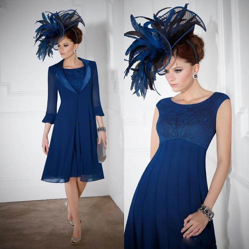 Royal Blue Short Mother Of The Bride Dresses Long Sleeve Formal Wear Cheap Wedding Guest Party