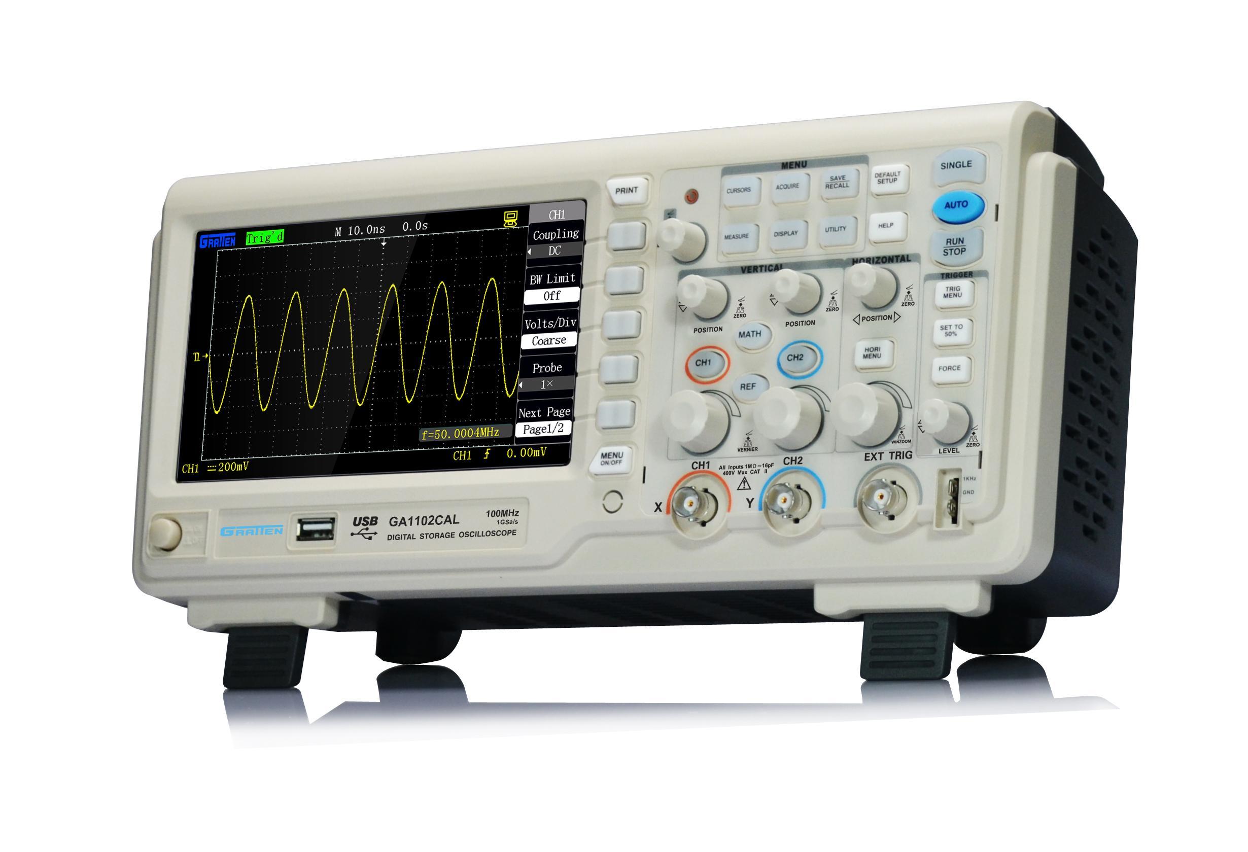 Digital Oscilloscope Software : Digital storage oscilloscope gratten ga cal mhz