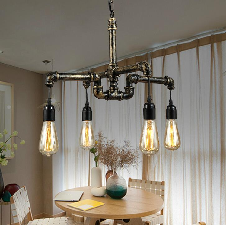 Discount pendant lamps loft industrial design retro for Inexpensive chandeliers for dining room