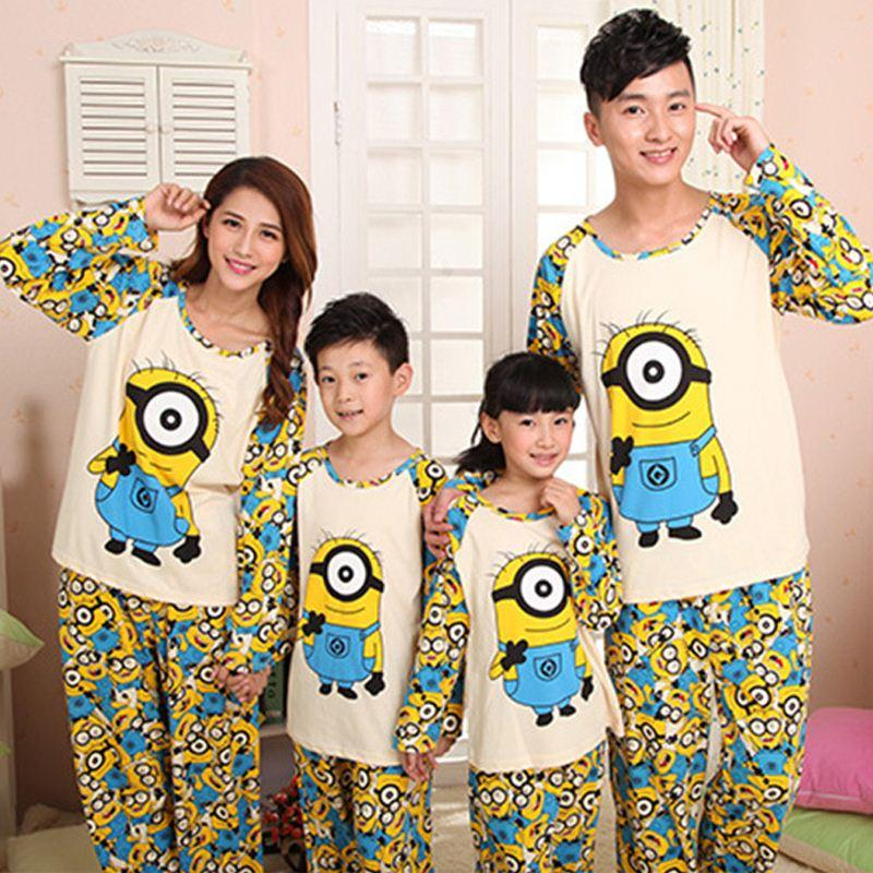 Fashion Family Minions Clothing Sets Autumn Mother Daughter ...
