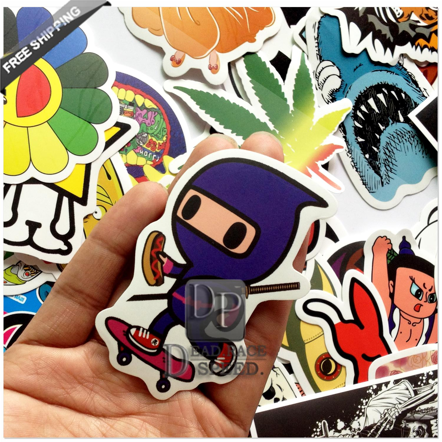 Sticker design for car online - Drop Shipping Stickers Car Styling Funny Car Sticker Doodle Motorcycle Bike Travel Doodle Accessory Cover Decals