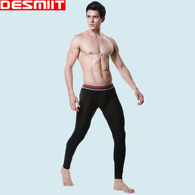 2017 Desmiit Brand Thermal Underwear For Men Cotton Warm Trousers ...