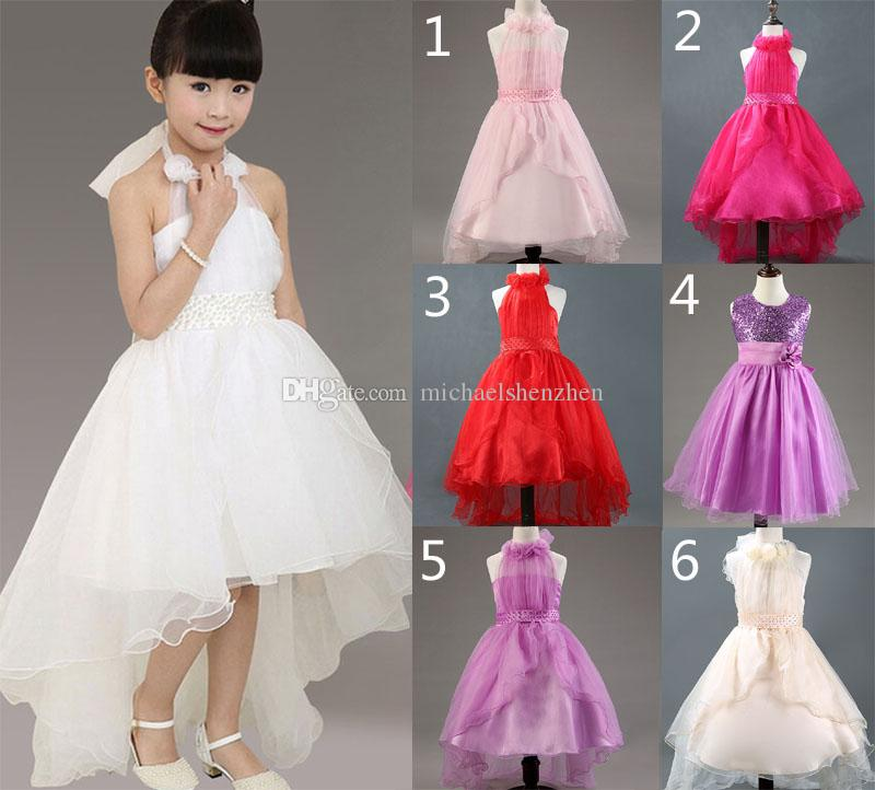 Girl lace princess dresses wedding christmas paillette dress 15 design