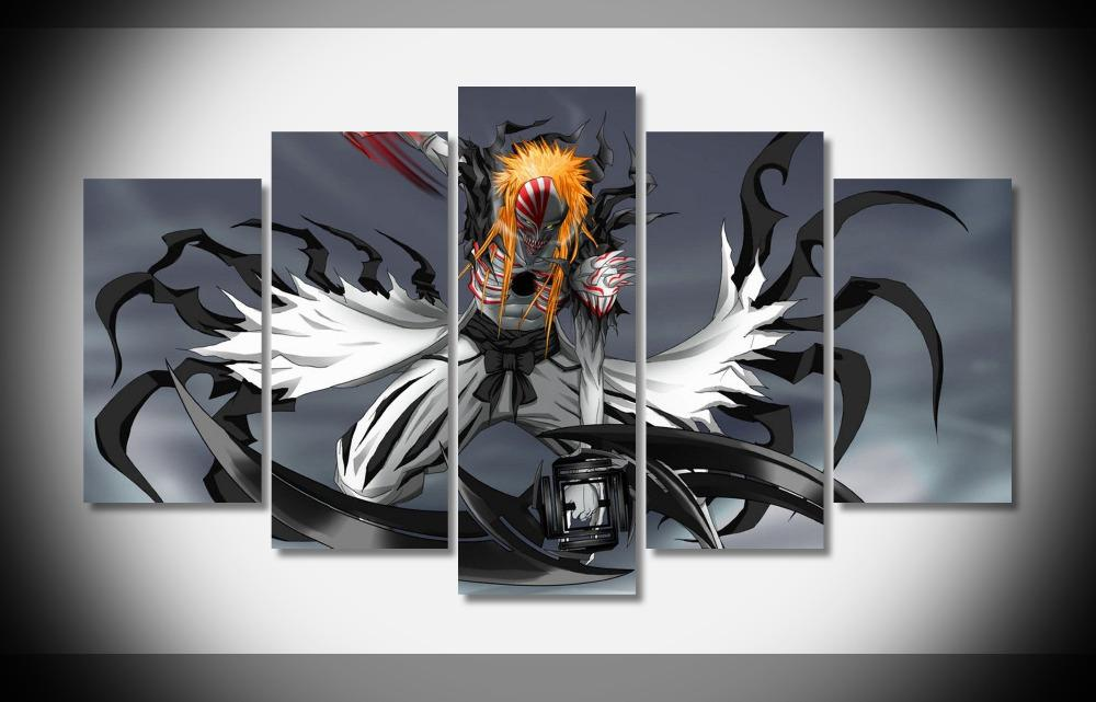 2546 Hollow Ichigo Bleach Anime Poster Home Deco Gallery Wrap Print Canvas Gallery Wrap Home Wall Decor Handmade Print