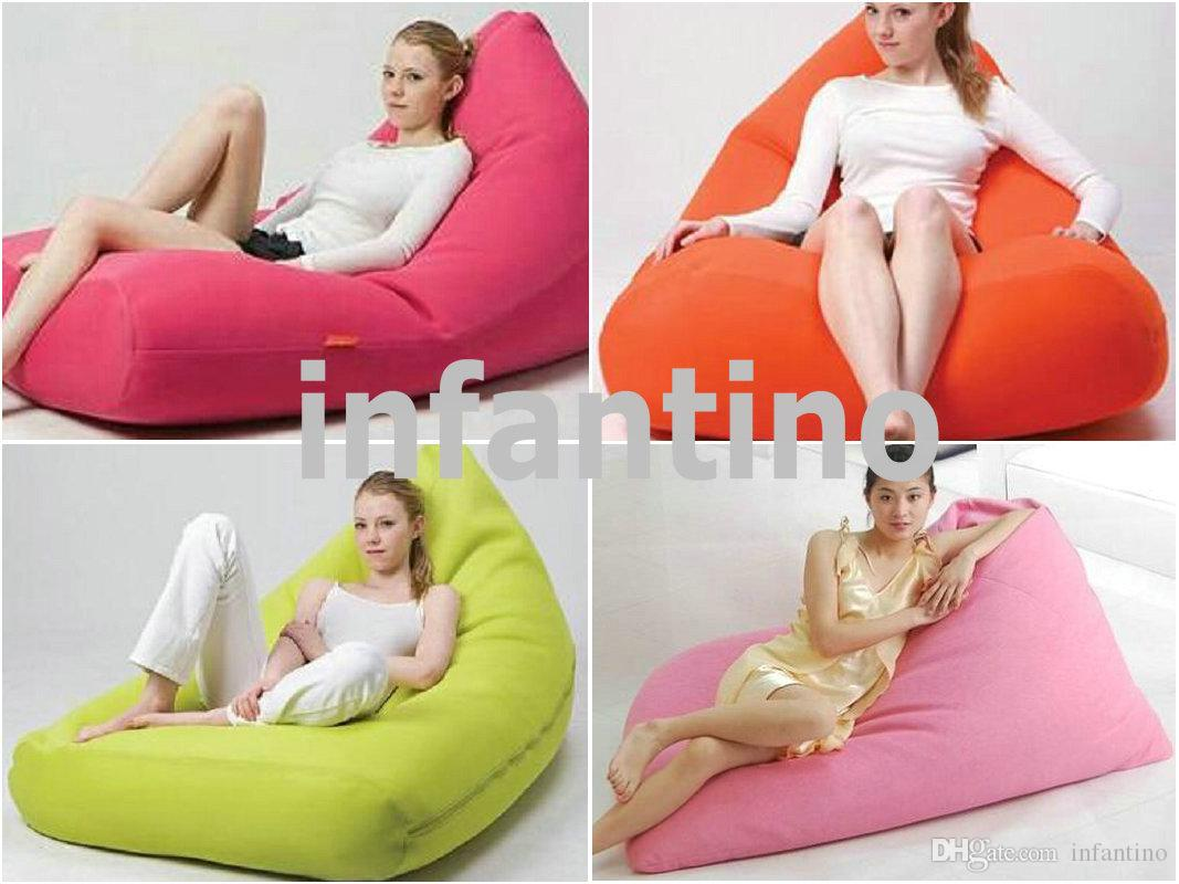 2017 outdoor and indoor black bean bag chair pivot beanbags classic durable modern portable. Black Bedroom Furniture Sets. Home Design Ideas