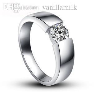 see larger image - Platinum Mens Wedding Rings