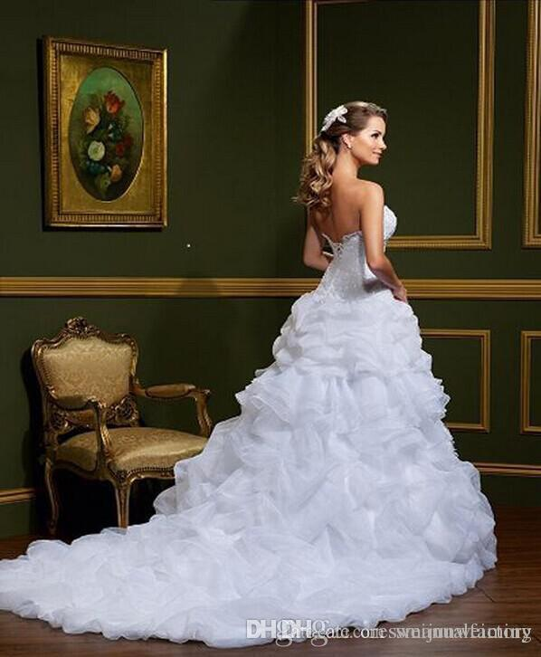 Elegant 2 Piece Wedding Dresses : Two piece wedding dress elegant sweetheart ball gown