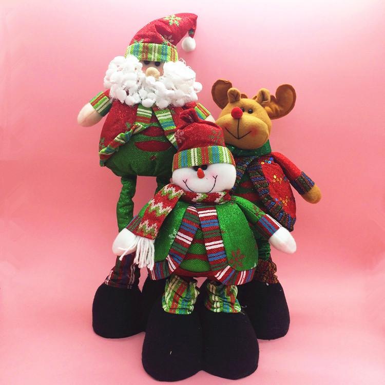 50cm flexible large christmas standing dolls toys santa - Adornos de navidad 2015 ...