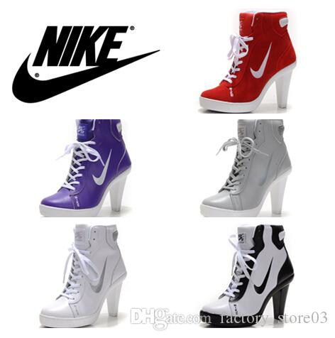 nike sports high heel womens basketball shoes fashion