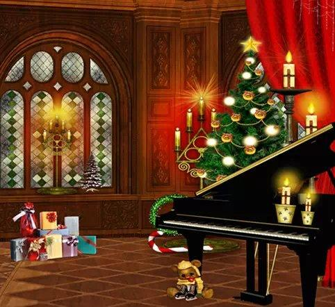 christmas piano wallpaper - photo #3