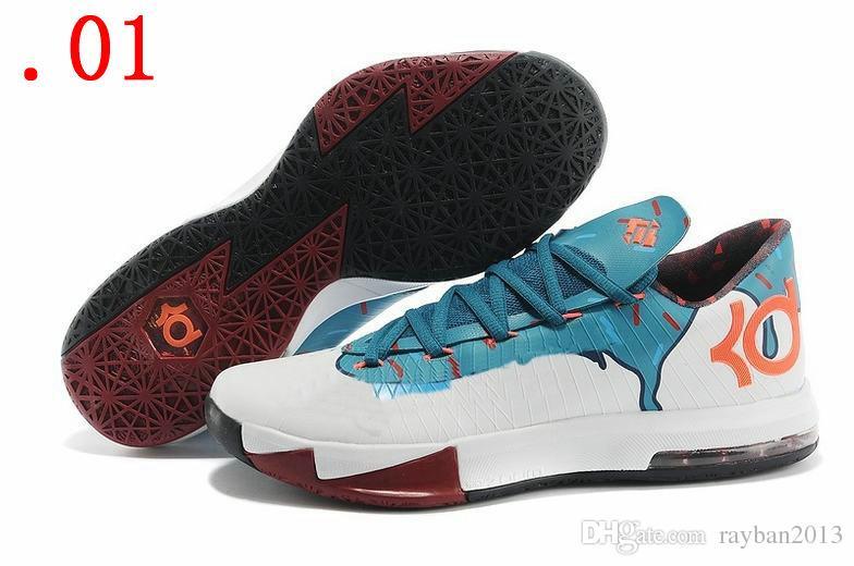 Cheap Nike KD 6 Shoes Black Orange