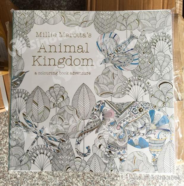 Animal Kingdom Secret Garden Colouring Book For Adult Kids