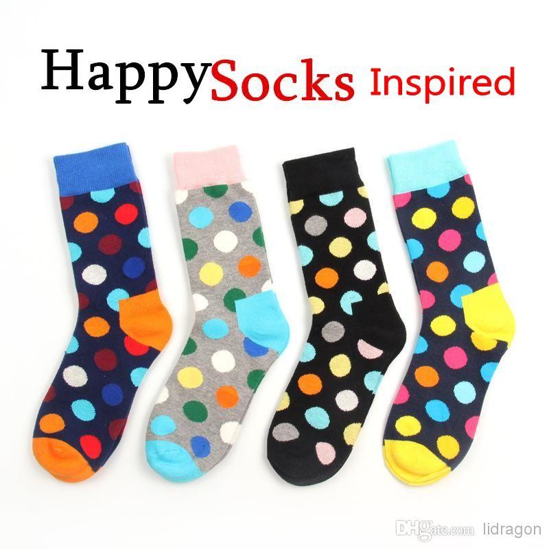 Discount Happy Socks Style Fashion High Quality Men'S Polka Dot Socks ...
