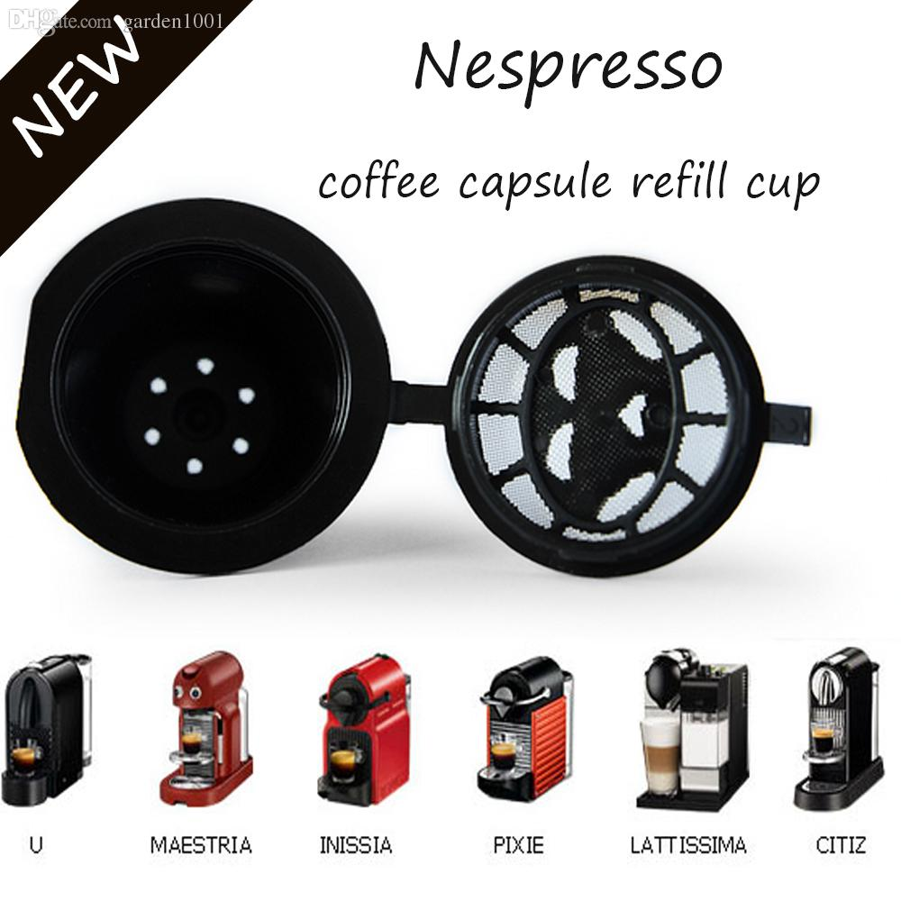 2017 refillable coffee capsule compatible with all nespresso machine not for dolce gusto each. Black Bedroom Furniture Sets. Home Design Ideas