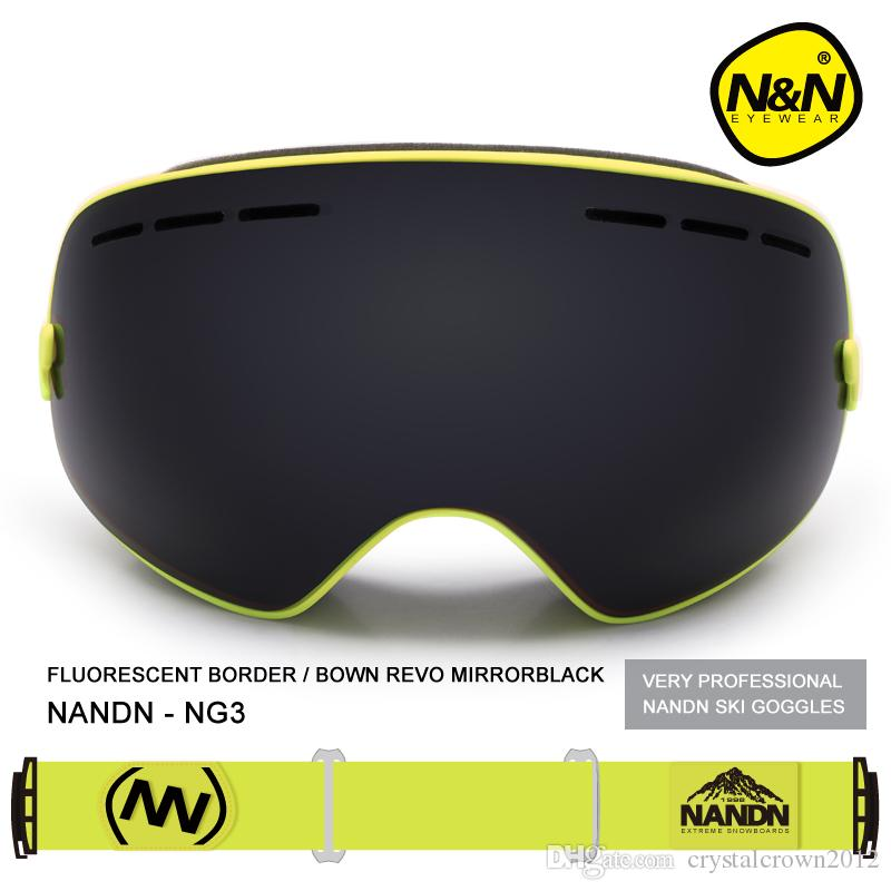 NG3 Snowboard Ski Goggles Large spherical lens Professional Double-dlayer Skiing Goggles