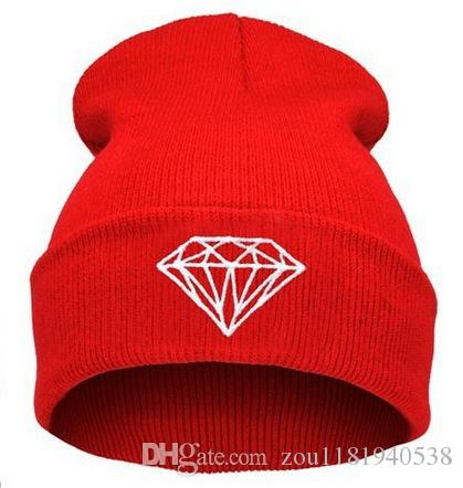 Diamond Embroidery Skullies Warm Beanies