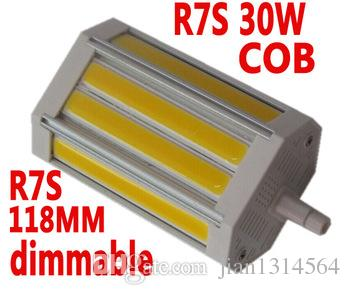 3200lm 30w cob led r7s light 118mm with colling fan dimmable r7s lamp ac85 265v 12v led bulb. Black Bedroom Furniture Sets. Home Design Ideas