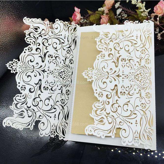 Raser Hollow Wedding Card Christmas Cards Lace Wedding Invitations 2016 New  Arrival High Quality Formal Event Card DIY Wedding Invitations Wedding ...