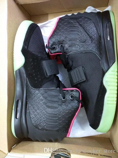 Mens Air Yeezys Black Red II shoes