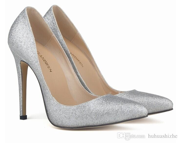 silver red bottom pumps