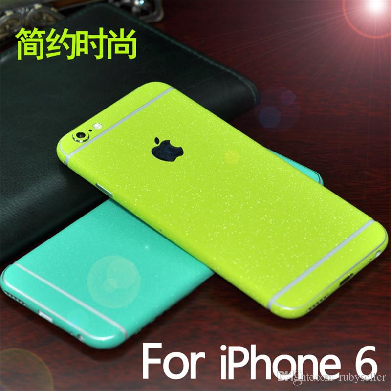 Carbon Fiber Full Housing Decoration Paper Bumper Frame Case Front Back Sticker For Iphone 5 5s 6 6plus