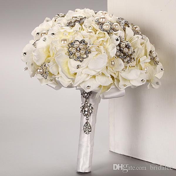 Fresh Flower Bridal Bouquets Online : Hybrid artificial handmade wedding bouquets for bride hand