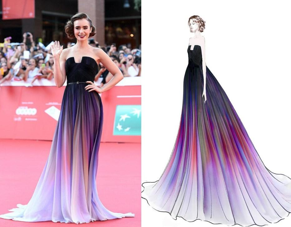 Cheap 2015 Elie Saab Ombre Pleats Prom Dresses With A Line ...